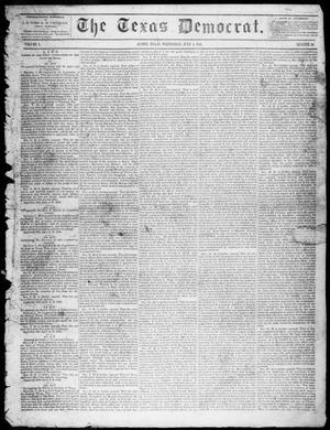 Primary view of object titled 'The Texas Democrat (Austin, Tex.), Vol. 1, No. 26, Ed. 1, Wednesday, July 1, 1846'.