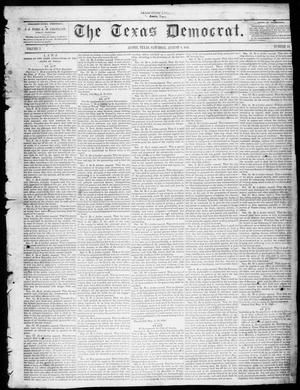 Primary view of object titled 'The Texas Democrat (Austin, Tex.), Vol. 1, No. 32, Ed. 1, Saturday, August 8, 1846'.