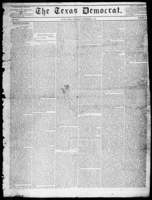 Primary view of The Texas Democrat (Austin, Tex.), Vol. 1, No. 36, Ed. 1, Wednesday, September 9, 1846