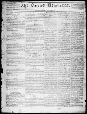 Primary view of object titled 'The Texas Democrat (Austin, Tex.), Vol. 1, No. 37, Ed. 1, Wednesday, September 16, 1846'.