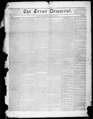 Primary view of object titled 'The Texas Democrat (Austin, Tex.), Vol. 1, No. 38, Ed. 1, Wednesday, September 23, 1846'.