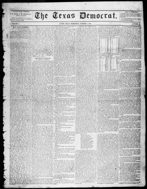 Primary view of object titled 'The Texas Democrat (Austin, Tex.), Vol. 1, No. 40, Ed. 1, Wednesday, October 7, 1846'.