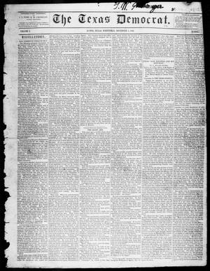 Primary view of object titled 'The Texas Democrat (Austin, Tex.), Vol. 1, No. 44, Ed. 1, Wednesday, November 4, 1846'.
