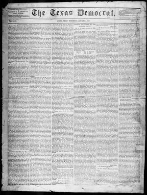Primary view of object titled 'The Texas Democrat (Austin, Tex.), Vol. 2, No. 1, Ed. 1, Wednesday, January 6, 1847'.