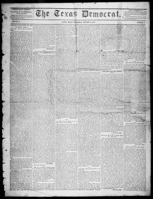 Primary view of object titled 'The Texas Democrat (Austin, Tex.), Vol. 2, No. 2, Ed. 1, Wednesday, January 13, 1847'.