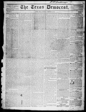 Primary view of object titled 'The Texas Democrat (Austin, Tex.), Vol. 2, No. 8, Ed. 1, Saturday, February 27, 1847'.