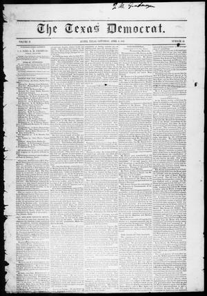 Primary view of object titled 'The Texas Democrat (Austin, Tex.), Vol. 2, No. 12, Ed. 1, Saturday, April 3, 1847'.