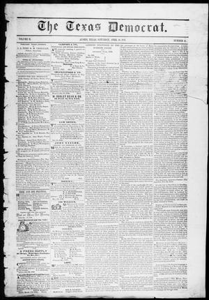 Primary view of object titled 'The Texas Democrat (Austin, Tex.), Vol. 2, No. 13, Ed. 1, Saturday, April 10, 1847'.