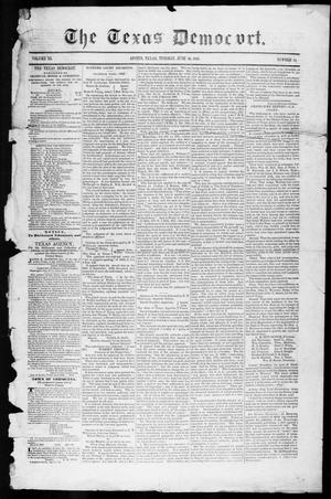 Primary view of object titled 'The Texas Democrat (Austin, Tex.), Vol. 3, No. 34, Ed. 1, Tuesday, June 20, 1848'.