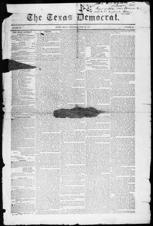 Primary view of object titled 'The Texas Democrat (Austin, Tex.), Vol. 3, No. 38, Ed. 1, Wednesday, July 19, 1848'.