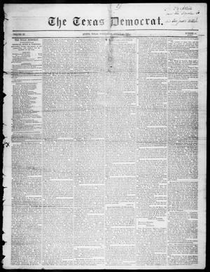 Primary view of object titled 'The Texas Democrat (Austin, Tex.), Vol. 3, No. 44, Ed. 1, Wednesday, August 30, 1848'.