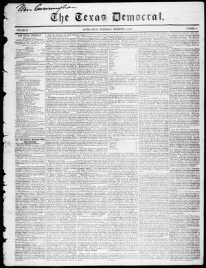 Primary view of object titled 'The Texas Democrat (Austin, Tex.), Vol. 3, No. 47, Ed. 1, Wednesday, September 20, 1848'.