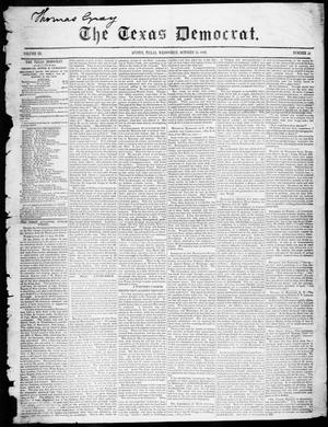 Primary view of object titled 'The Texas Democrat (Austin, Tex.), Vol. 3, No. 52, Ed. 1, Wednesday, October 25, 1848'.