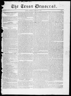Primary view of object titled 'The Texas Democrat (Austin, Tex.), Vol. 1, No. 2, Ed. 1, Saturday, February 3, 1849'.