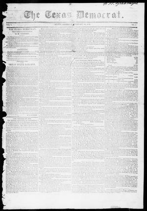 Primary view of object titled 'The Texas Democrat (Austin, Tex.), Vol. 1, No. 3, Ed. 1, Saturday, February 10, 1849'.