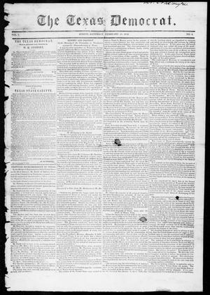 Primary view of object titled 'The Texas Democrat (Austin, Tex.), Vol. 1, No. 4, Ed. 1, Saturday, February 17, 1849'.