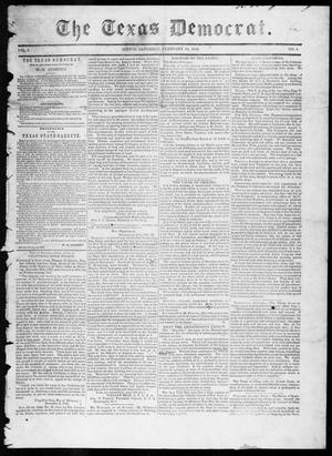 Primary view of object titled 'The Texas Democrat (Austin, Tex.), Vol. 1, No. 5, Ed. 1, Saturday, February 24, 1849'.