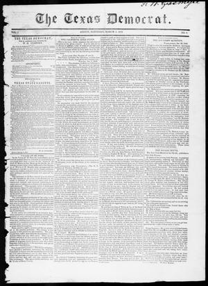 Primary view of object titled 'The Texas Democrat (Austin, Tex.), Vol. 1, No. 6, Ed. 1, Saturday, March 3, 1849'.