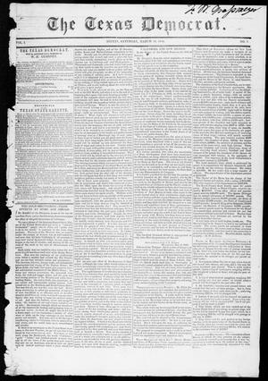 Primary view of object titled 'The Texas Democrat (Austin, Tex.), Vol. 1, No. 7, Ed. 1, Saturday, March 10, 1849'.