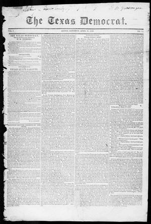 Primary view of The Texas Democrat (Austin, Tex.), Vol. 1, No. 14, Ed. 1, Saturday, April 28, 1849