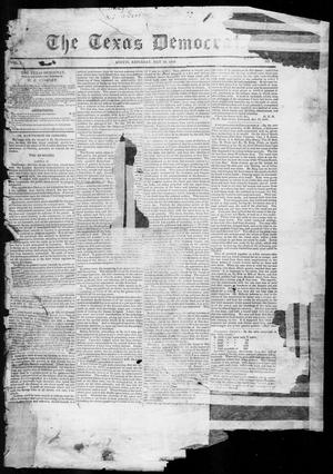 Primary view of object titled 'The Texas Democrat (Austin, Tex.), Vol. 1, No. 17, Ed. 1, Saturday, May 19, 1849'.