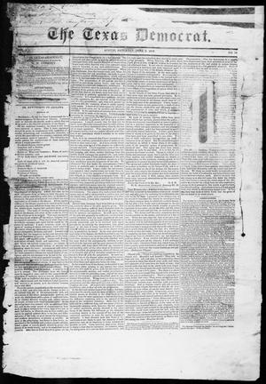 Primary view of object titled 'The Texas Democrat (Austin, Tex.), Vol. 1, No. 19, Ed. 1, Saturday, June 2, 1849'.