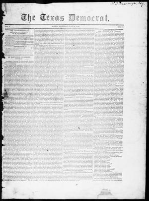 Primary view of object titled 'The Texas Democrat (Austin, Tex.), Vol. 1, No. 21, Ed. 1, Saturday, June 16, 1849'.