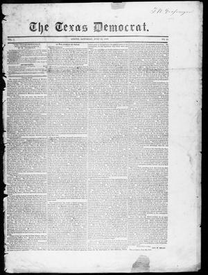 Primary view of object titled 'The Texas Democrat (Austin, Tex.), Vol. 1, No. 23, Ed. 1, Saturday, June 30, 1849'.