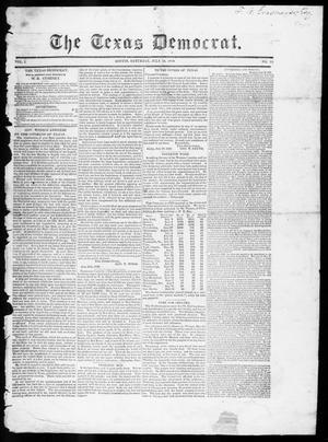 Primary view of object titled 'The Texas Democrat (Austin, Tex.), Vol. 1, No. 25, Ed. 1, Saturday, July 14, 1849'.