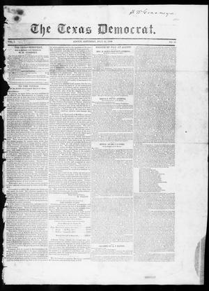 Primary view of object titled 'The Texas Democrat (Austin, Tex.), Vol. 1, No. 26, Ed. 1, Saturday, July 21, 1849'.