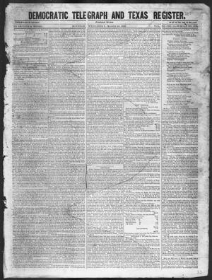 Primary view of object titled 'Democratic Telegraph and Texas Register (Houston, Tex.), Vol. 11, No. 11, Ed. 1, Wednesday, March 18, 1846'.