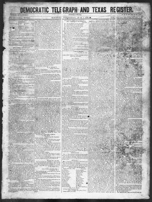 Primary view of object titled 'Democratic Telegraph and Texas Register (Houston, Tex.), Vol. 11, No. 13, Ed. 1, Wednesday, April 1, 1846'.