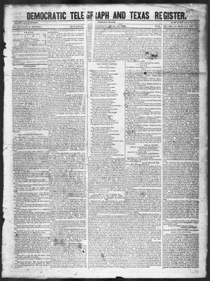 Primary view of object titled 'Democratic Telegraph and Texas Register (Houston, Tex.), Vol. 11, No. 17, Ed. 1, Wednesday, April 29, 1846'.
