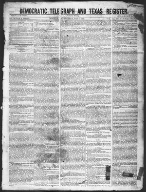 Primary view of object titled 'Democratic Telegraph and Texas Register (Houston, Tex.), Vol. 11, No. 18, Ed. 1, Wednesday, May 6, 1846'.