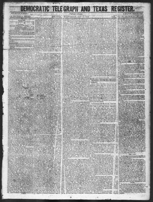 Primary view of object titled 'Democratic Telegraph and Texas Register (Houston, Tex.), Vol. 11, No. 20, Ed. 1, Wednesday, May 20, 1846'.