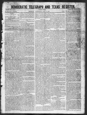 Primary view of object titled 'Democratic Telegraph and Texas Register (Houston, Tex.), Vol. 11, No. 21, Ed. 1, Wednesday, May 27, 1846'.