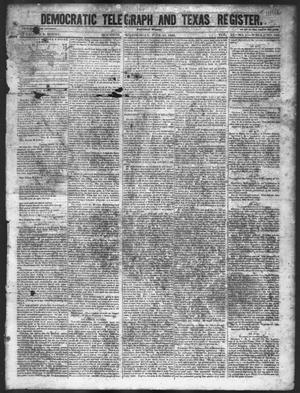 Primary view of object titled 'Democratic Telegraph and Texas Register (Houston, Tex.), Vol. 11, No. 23, Ed. 1, Wednesday, June 10, 1846'.