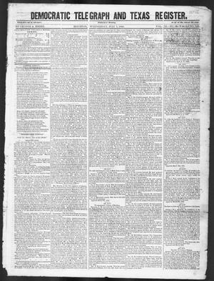 Primary view of object titled 'Democratic Telegraph and Texas Register (Houston, Tex.), Vol. 11, No. 26, Ed. 1, Wednesday, July 1, 1846'.
