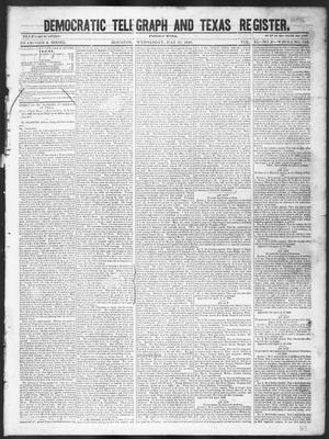 Primary view of object titled 'Democratic Telegraph and Texas Register (Houston, Tex.), Vol. 11, No. 30, Ed. 1, Wednesday, July 29, 1846'.