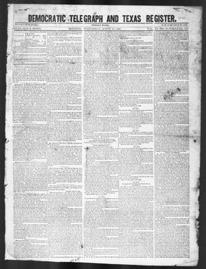 Primary view of object titled 'Democratic Telegraph and Texas Register (Houston, Tex.), Vol. 11, No. 34, Ed. 1, Wednesday, August 26, 1846'.