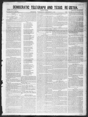 Primary view of object titled 'Democratic Telegraph and Texas Register (Houston, Tex.), Vol. 11, No. 35, Ed. 1, Wednesday, September 2, 1846'.