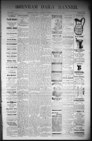 Primary view of object titled 'Brenham Daily Banner. (Brenham, Tex.), Vol. 6, No. 259, Ed. 1 Saturday, October 29, 1881'.