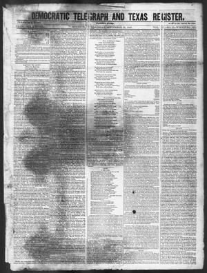 Primary view of object titled 'Democratic Telegraph and Texas Register (Houston, Tex.), Vol. 11, No. 39, Ed. 1, Wednesday, September 30, 1846'.