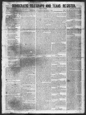 Primary view of object titled 'Democratic Telegraph and Texas Register (Houston, Tex.), Vol. 11, No. 40, Ed. 1, Wednesday, October 7, 1846'.