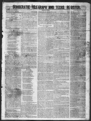 Primary view of object titled 'Democratic Telegraph and Texas Register (Houston, Tex.), Vol. 11, No. 41, Ed. 1, Wednesday, October 14, 1846'.