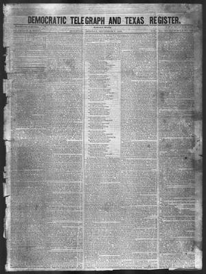 Primary view of object titled 'Democratic Telegraph and Texas Register (Houston, Tex.), Vol. 11, No. 45, Ed. 1, Monday, November 9, 1846'.