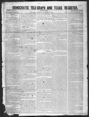 Primary view of object titled 'Democratic Telegraph and Texas Register (Houston, Tex.), Vol. 11, No. 47, Ed. 1, Monday, November 23, 1846'.