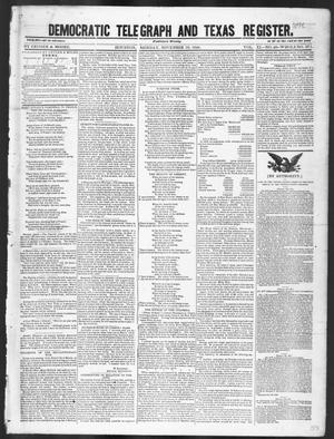 Primary view of object titled 'Democratic Telegraph and Texas Register (Houston, Tex.), Vol. 11, No. 48, Ed. 1, Monday, November 30, 1846'.