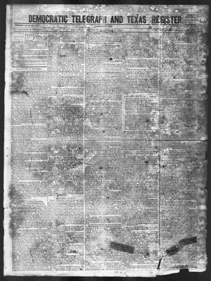 Primary view of object titled 'Democratic Telegraph and Texas Register (Houston, Tex.), Vol. 11, No. 49, Ed. 1, Monday, December 7, 1846'.