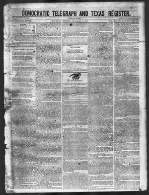Primary view of object titled 'Democratic Telegraph and Texas Register (Houston, Tex.), Vol. 12, No. 2, Ed. 1, Monday, January 11, 1847'.